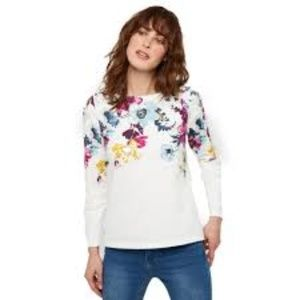 JOULES Harbour Print Floral Top Women's 12 NEW